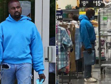Depois de 'surtar' na internet, Kanye West é flagrado fazendo compras em supermercado
