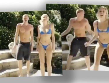 """Miley Cyrus e o namorado Cody Simpson arrasam em versão de """"Jeito Sexy"""", da Fat Family. Oi?"""