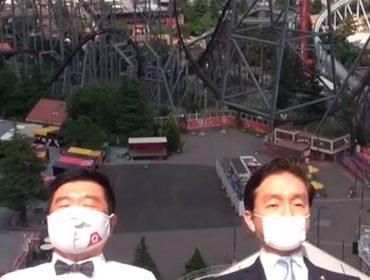 """Nada de 'gritaria, babado e confusão' nas montanhas-russas de Tóquio. A indicação agora é """"gritem com  o coração"""". Entenda!"""