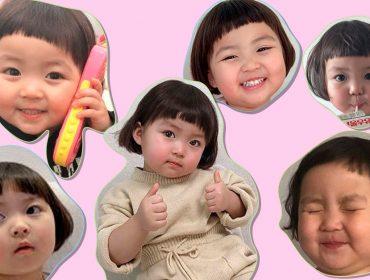 Conheça Jinmiran, a expressiva garotinha coreana que é campeã dos stickers do Whatsapp