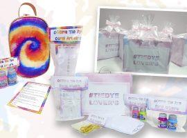 Especialista em atividades lúdicas, Carol Arteira cria kit Tie Dye para divertir as crianças em casa