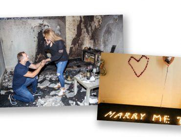 Pedido de casamento causa incêndio na Inglaterra, mas termina com um 'sim' da amada