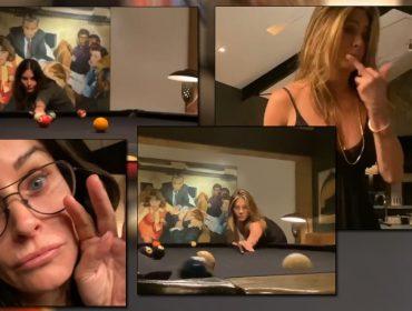 Jennifer Aniston e Courteney Cox se arriscam na sinuca e o resultado é hilário. Play para conferir!