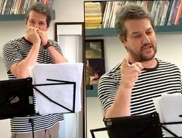 """Marcelo Serrado se prepara para estrear show virtual 'De Frank a Wando': """"As pessoas cantarão comigo"""""""