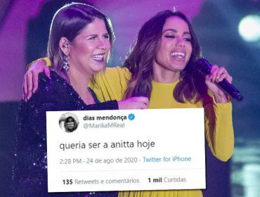 """Marília Mendonça faz jus ao título de rainha da sofrência e desabafa: """"Queria ser a Anitta hoje"""""""