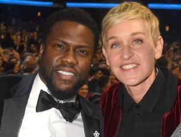 Ellen DeGeneres é clicada conversando com Kevin Hart, o comediante 'expulso' do Oscar