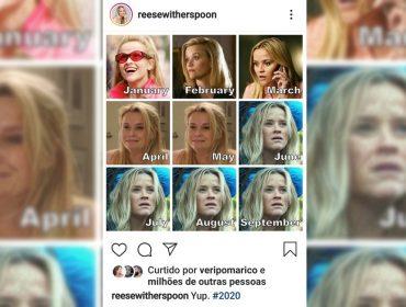 Reese Witherspoon representa o nosso ânimo em 2020 e inspira famosos dos EUA ao Brasil a fazer meme