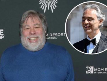 Andrea Bocelli fará 'live' durante o aniversário de Steve Wozniak, cofundador da Apple