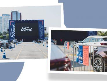 Ford arma drive-in especial para clientes com transmissão de jogos de futebol e filmes em SP