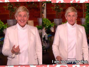 """Ellen Degeneres volta à TV com seu programa e pede desculpas por ser taxada de megera: """"Se alguma vez decepcionei alguém, peço que me desculpem"""""""