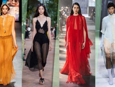 Corpos à mostra: transparência é aposta de marcas de luxo nas semanas internacionais de moda