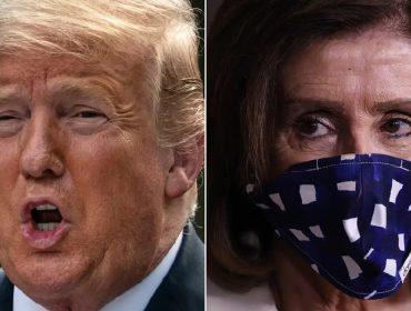 """Trump 'ataca' adversária política que foi flagrada sem máscara: """"Vive mandando a gente usar e não usa"""""""