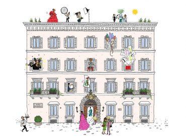 Maison Valentino revela os bastidores de seu QG em Roma em projeto que une arte, moda e cinema