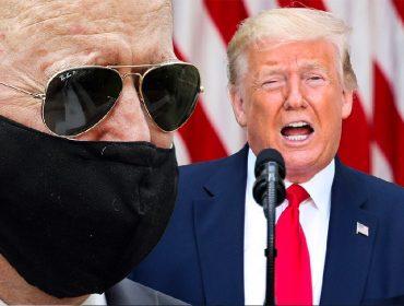 """Trump tira sarro de Joe Biden por uso de máscara: """"Gastou um dinheirão com plásticas e agora cobre?"""""""