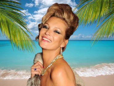 Kate Moss revela que ama tanto joias que não abre mão de usá-las nem na praia. Vem saber!
