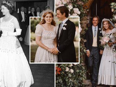 Vestido 'reciclado' usado pela princesa Beatrice em seu casamento ganhará exposição