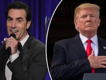 Sacha Baron Cohen aproveita debate nos EUA para anunciar apoio de Borat a Trump