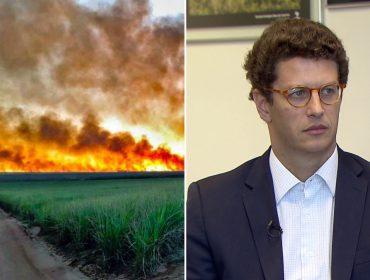 Mesmo com queimadas, Salles se mantém no posto com apoio de Bolsonaro; Mourão é contra a permanência do ministro na pasta
