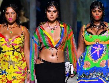 Versace faz história ao escolher modelos plus-size para apresentar sua nova coleção