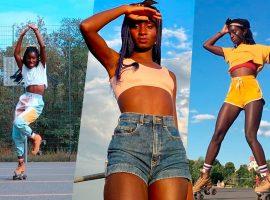 Sucesso na web como patinadora, Oumi Janta é alçada ao posto de musa na semana de moda de Paris. Quem é ela?
