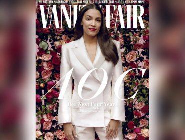 """A deputada democrata na capa da """"Vanity Fair"""""""