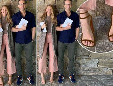 Registro de Blake Lively e Ryan Reynolds depois de votarem nos EUA quebra a internet por causa dos pés da atriz