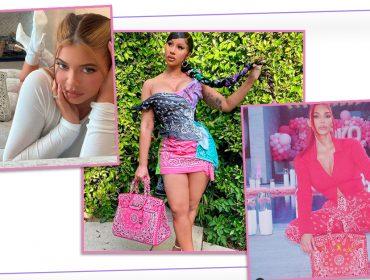 Bolsas Birkin vintage customizadas são as queridinhas de Kim Kardashian, Kylie Jenner e Cardi B, que pagam até R$ 500 mil pela peça