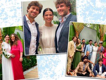 Betina de Luca e Lair Pasetti se casaram no sábado com cerimônia e almoço ao ar livre para poucos