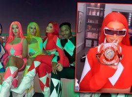 Kylie Jenner e amigos curtem Halloween fantasiados perfeitamente de Power Rangers
