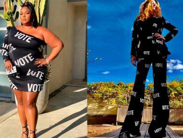 Certo estilista cria roupas de luxo em prol do voto nas eleições dos EUA. Julia Roberts e Lizzo já garantiram seus modelitos!