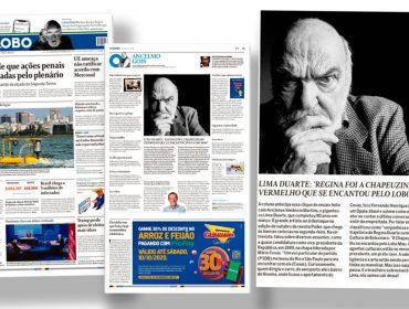 PODER ganha destaque no jornal 'O Globo' com ensaio especial de Lima Duarte