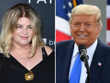 Kirstie Alley revela no Twitter que vai votar em Trump novamente e é 'atacada' por famosos