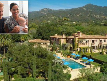 Imagem aérea do novo endereço de Meghan e Harry na Califórnia mostra toda sua magnitude. Vem ver!