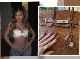 Ostentação, eu? Kylie Jenner exibe solitário de R$500 mil e uma das bolsas mais caras do mundo em apenas um clique