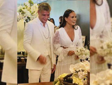 """Fábio Assunção e Ana Verena dizem sim em cerimônia íntima e ator se declara: """"Fomos presenteados um com o outro"""""""