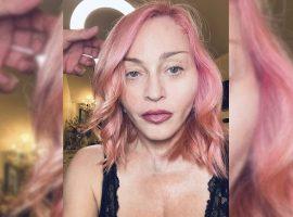 Madonna entra para o time de celebs com cabelo colorido e mostra transformação até chegar ao pink