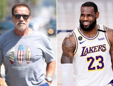 Arnold Schwarzenegger e LeBron James