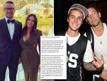 Carl e Laura Lentz, na foto que o pastor postou no Insta, e ele com Bieber
