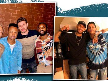 Machucado, Neymar assistiu Brasil X Venezuela em balada paulistana com os 'parças'