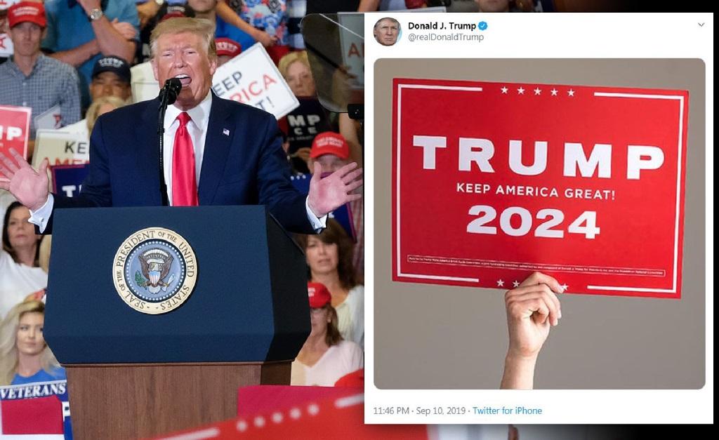 Donald Trump e um post que ele fez no Twitter dia desses, sobre uma possível nova candidatura daqui quatro anos