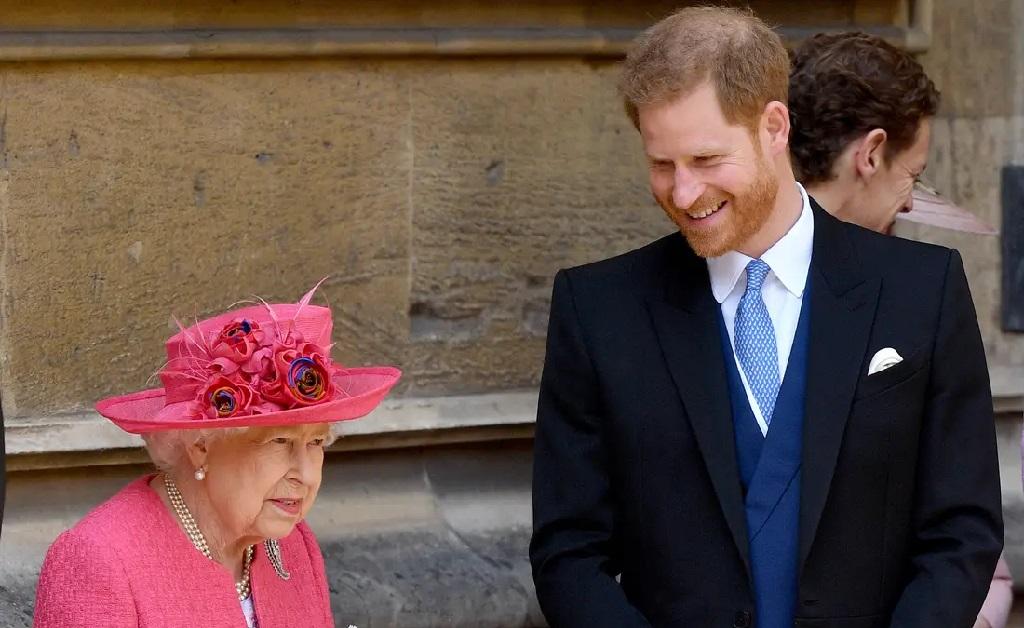 A rainha e Harry
