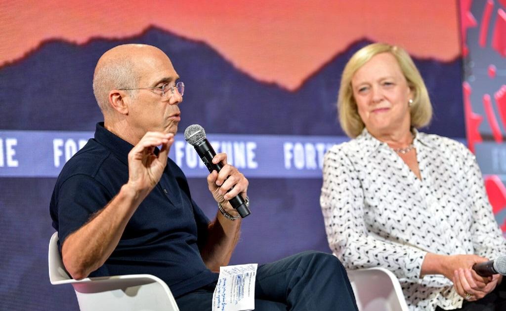 Jeffrey Katzenberg e Meg Whitman