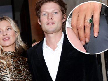 Kate Moss e Nikolai von Bismarck, e o anel que gerou o zunzunzum