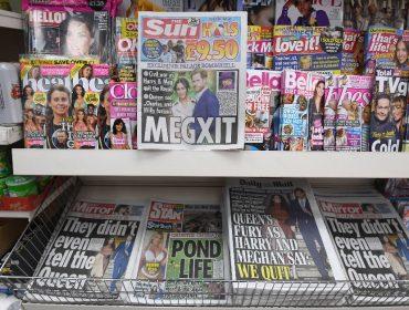 Revistas com rostos de Meghan e Harry estampados na capa estão vendendo cada vez menos no hemisfério norte