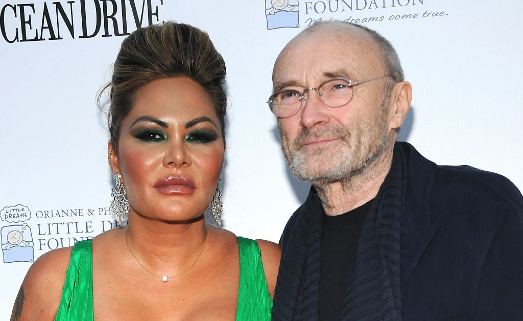 O ex-casal Orianne Cevet e Phil Collins