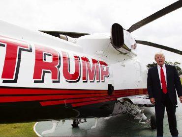 O presidente americano e um de seus Sikorskys