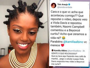 Corrente poderosa: Viola Davis e Taís Araújo fazem repost de influencer brasileira e ganham comentários e likes de Naomi e Beyoncé