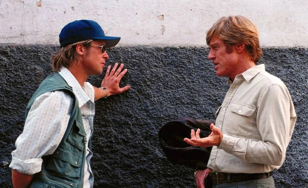 O ator com seu bff Robert Redford