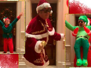 Elton John e família se jogam no Tik Tok com vídeo divertido de Natal… sem sair de casa, como pedem os protocolos