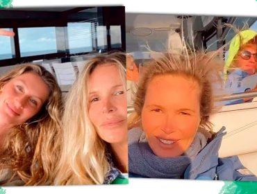 Gisele Bündchen e sua bff, a top veterana Elle MacPherson, curtem férias de fim de ano juntas 'al mare'